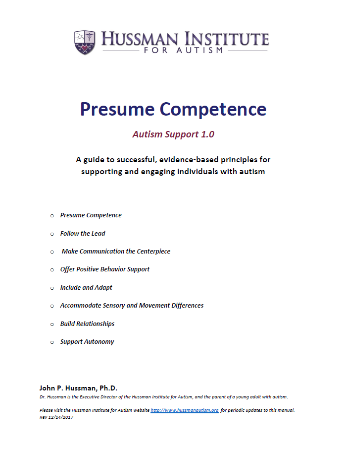 Presume Competence Guide - Hussman Institute